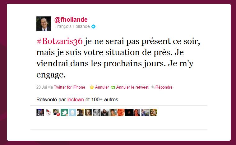 annonce de la prochaine visite de Francois Hollande